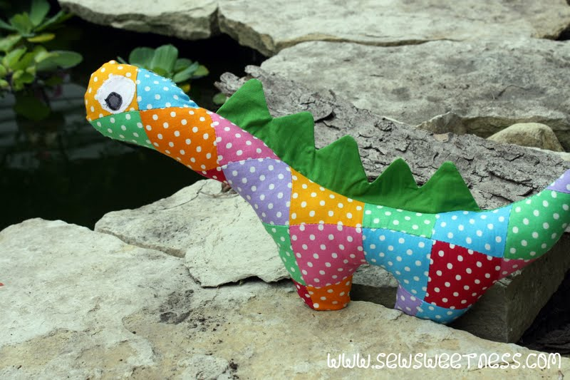 Dinosaur Pattern. Dinosaur Softie PDF Sewing Pattern. Stuffed