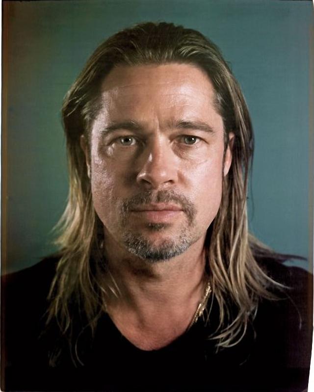 Brad Pitt sin maquillaje