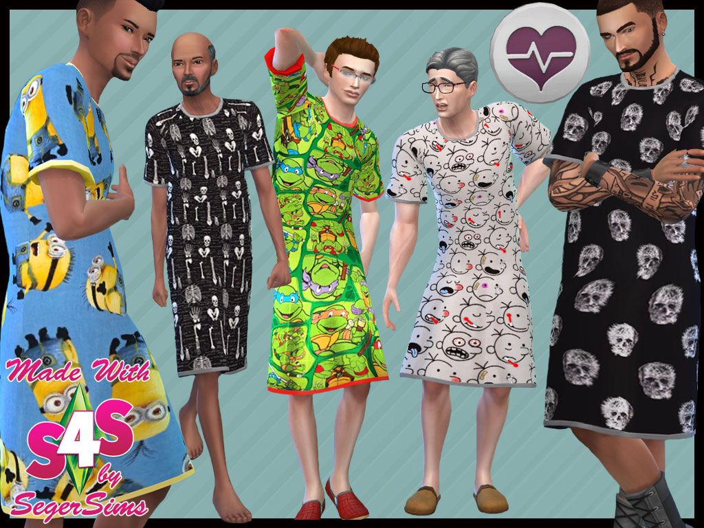 My Sims 4 Blog: Hospital Gowns for Males by Seger Sims