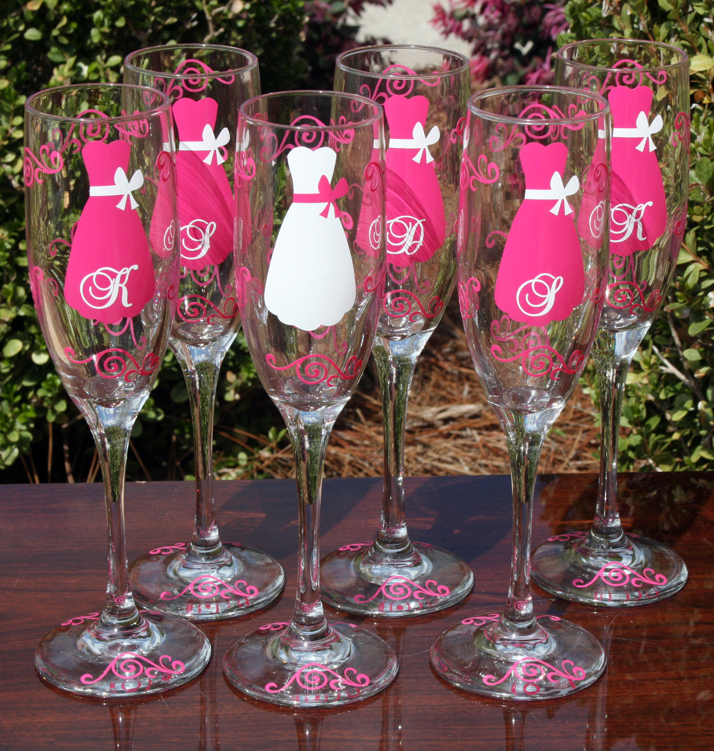 Wedding Day Gifts For Bridesmaids : ... SHE} LOVES: Pittsburgh Wedding Planner Bridesmaid Champagne Glasses
