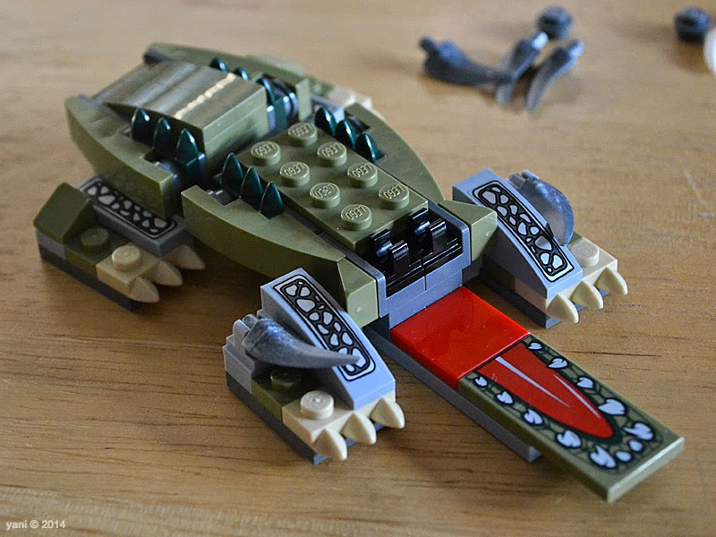 lego chima legend beast crocodile - time for the feet
