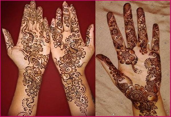 Mehndi Front Hand : Front hand mehndi design