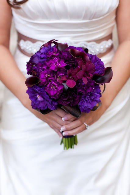 purple stock, lisianthus, dendrobium orchids, calla lilies