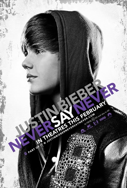 justin bieber movie poster. justin bieber never say never