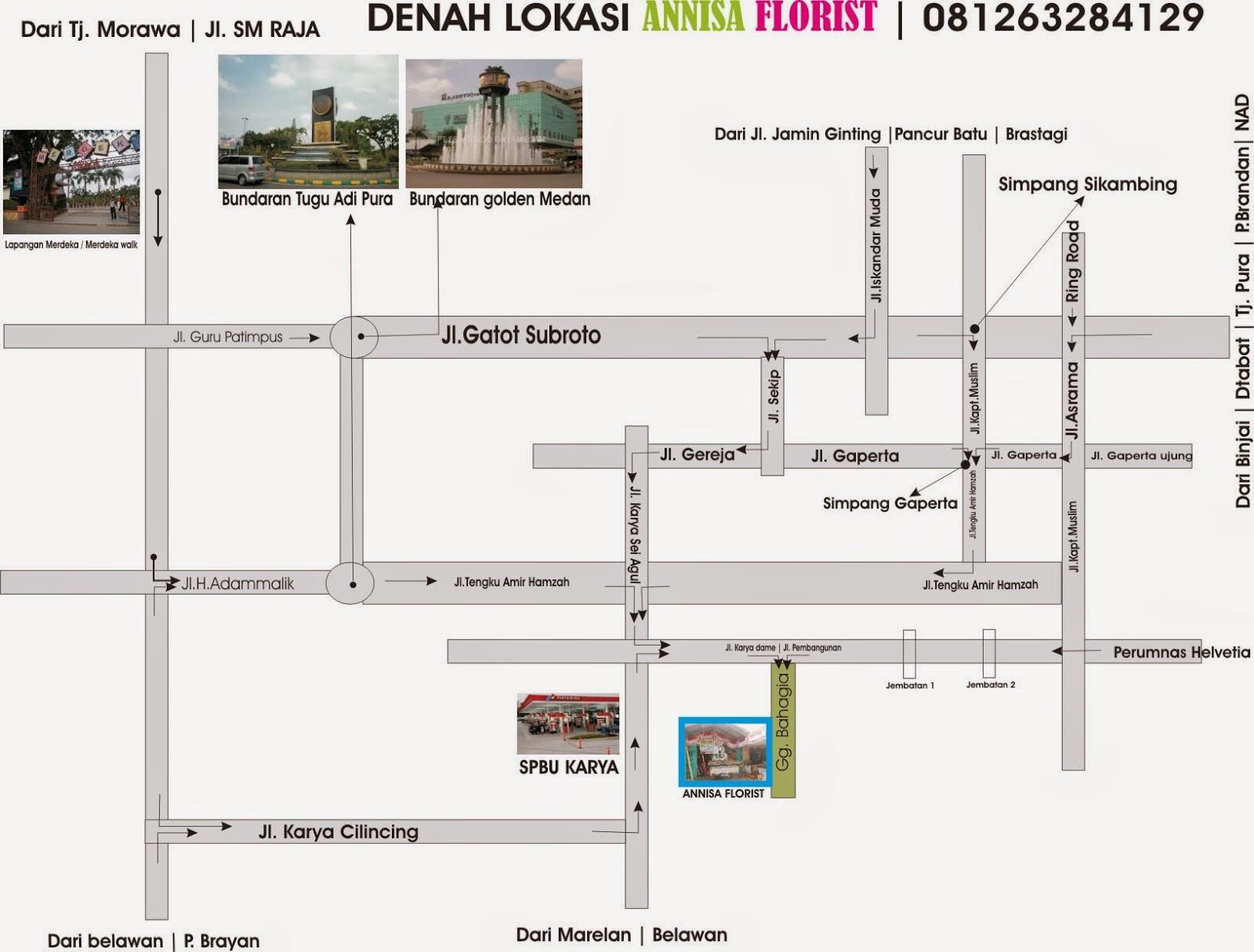DENAH LOKASI ANNISA FLORIST | 081263284129