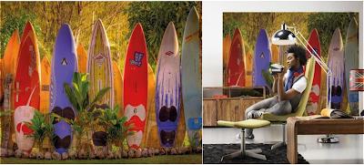 fotomurales pintura y madera