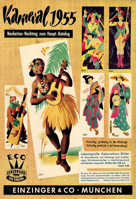 Cover of Karneval  katalog from 1955 - Einzinger & Co. Munchen