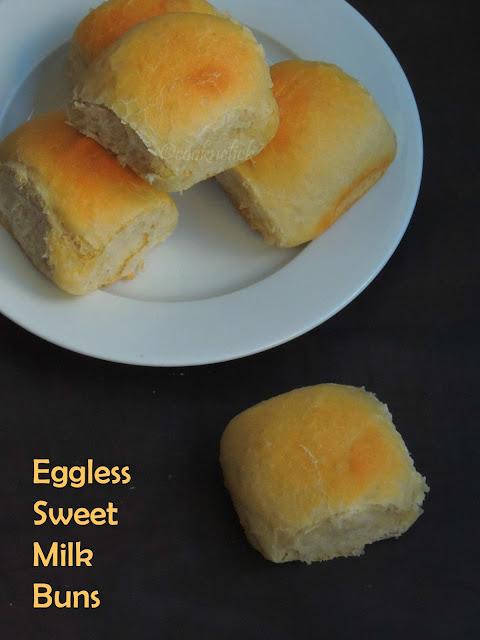 Eggless Sweet Milk Buns