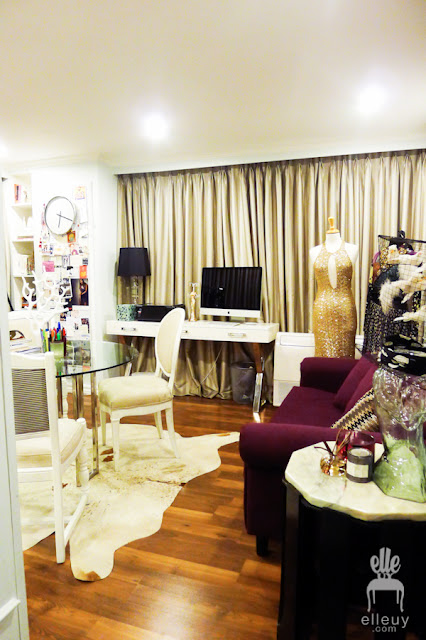home office, glam office, liz uy, liz uy office
