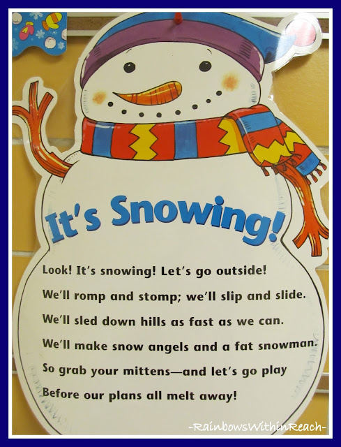 Winter Snowman Poem via RainbowsWithinReach