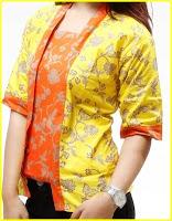 Model baju batik kuning