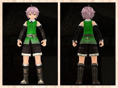 冒険者の服 緑色1 軽量化(男)
