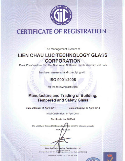 Kính hộp LCL Glass ISO-9001