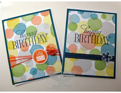 Crafty Colonel Donna Nuce, Stampin up stamps and DP, Birthday Cards
