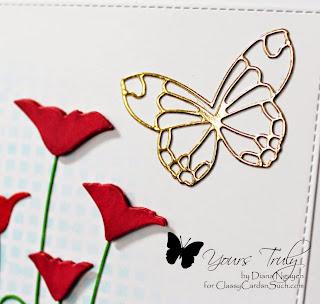 Diana Nguyen, sympathy, memory box, poppy, poppystamps, butterfly, card