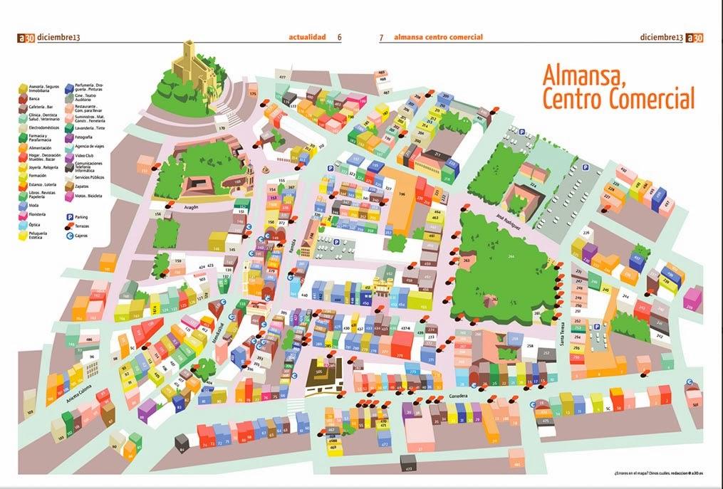 Mapa guia de almansa - Plano de almansa ...
