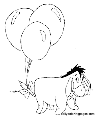 winnie the pooh birhtday coloring pages