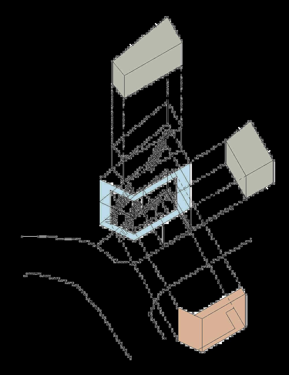 axonometri rumah-desain-bangunan-rumah-tinggal-minimalis-lahan-sempit-yoritaka-hayashi-ruang-dan-rumahku-004