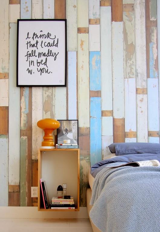 Papel pintado simulando listones de madera scrapwood - Papel pintado para madera ...