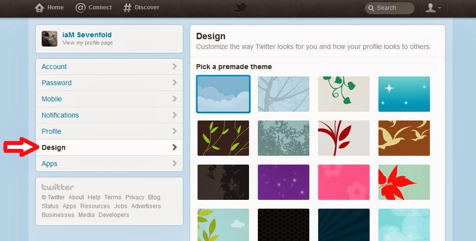 Cara Mengganti Background Twitter Sesuka Hati