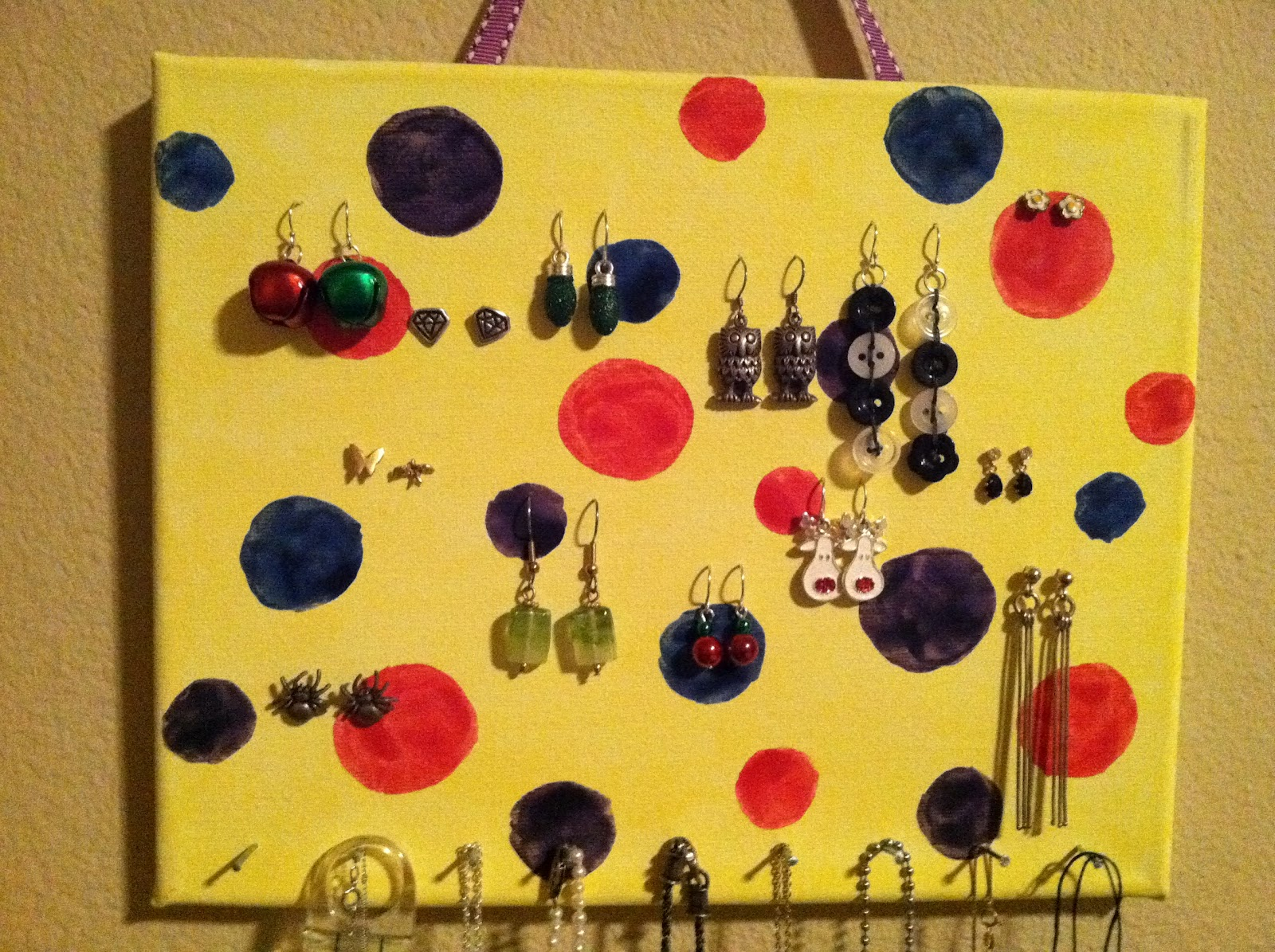 A as in Anna Canvas Jewelry Organizer