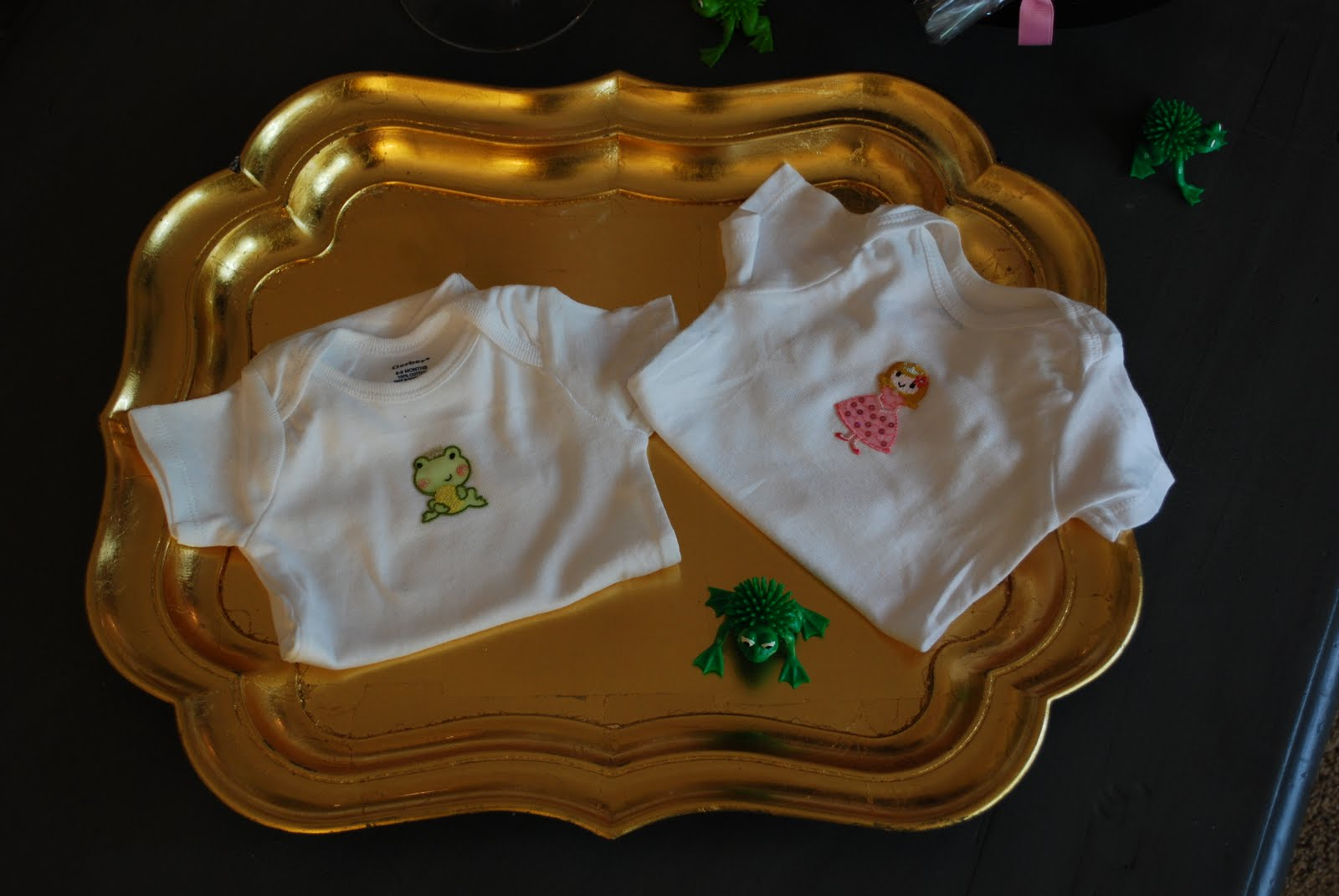 everyone loves ruffles princess and frog twin baby shower