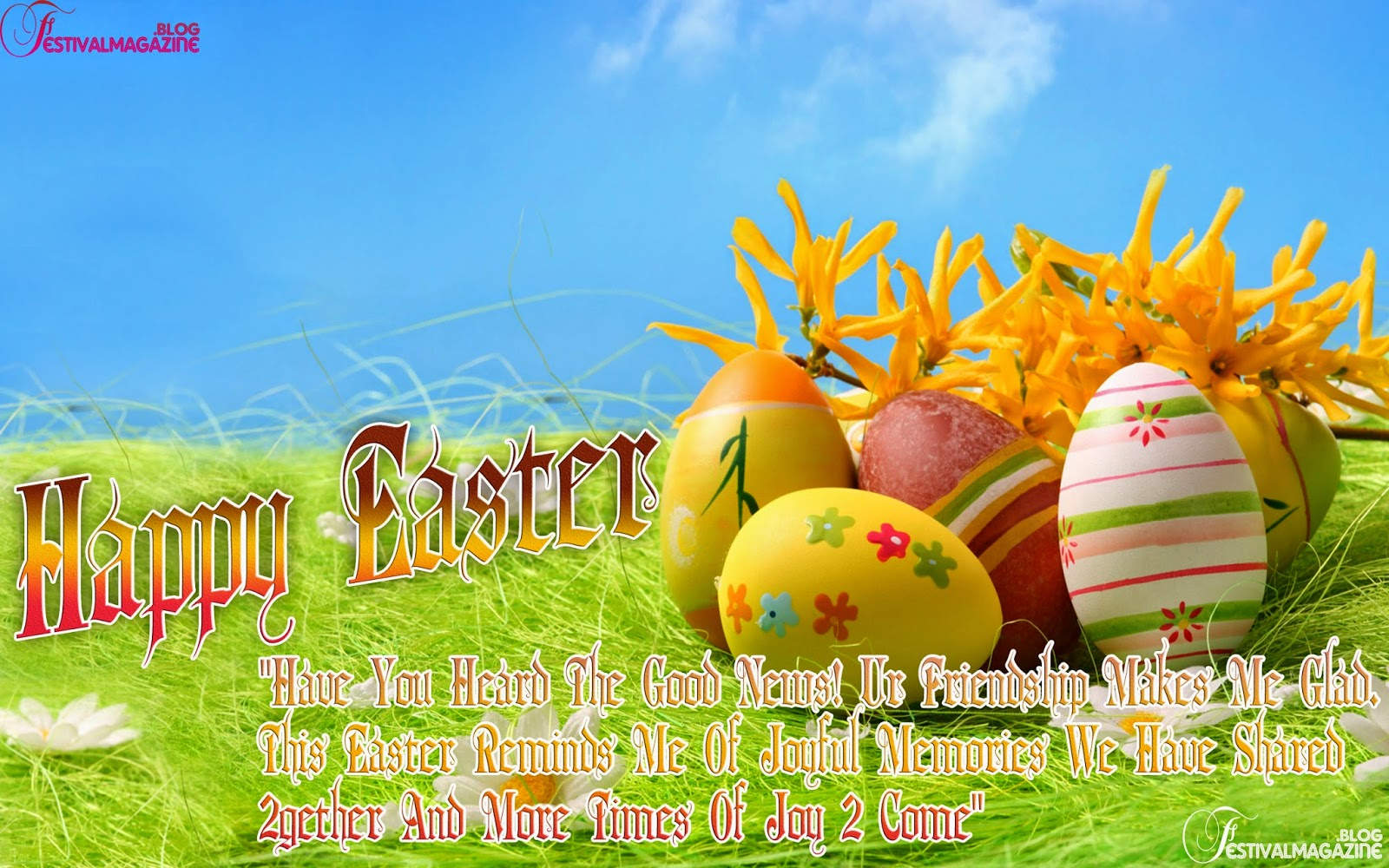 Festival Magazine Happy Easter Day Greeting Quotes Images With