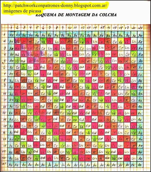 Patchwork solo patrones todo gratis patchwork qults - Patrones colcha patchwork ...