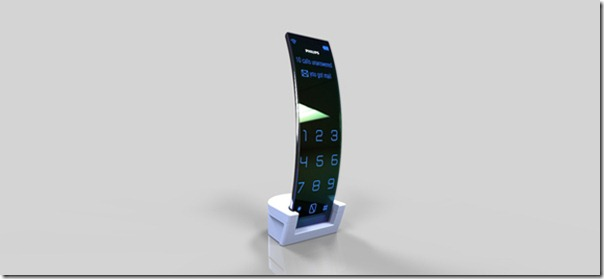 Phone Philips curved Shape and Touch screen