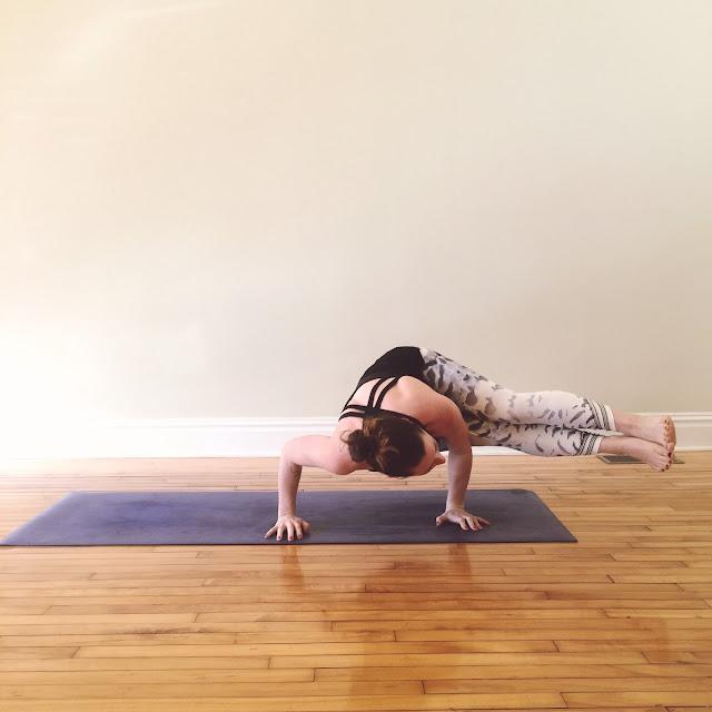 yoga post extended side crow arm balance lululemon