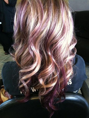 mechas colores+peinados