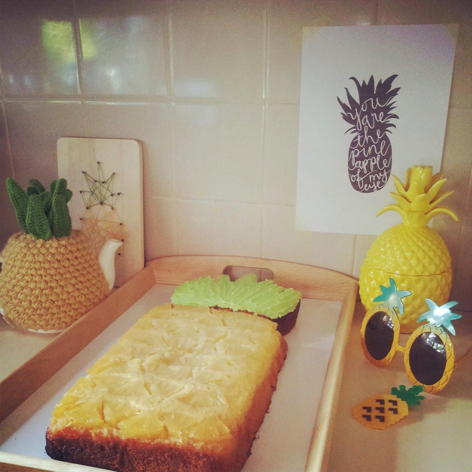 Tea And Craft Pineapple Shaped Pineapple Upside Down Cake