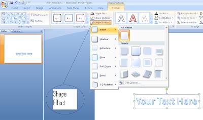 contoh shape effect