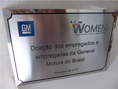 PLACAS DE HOMENAGEM EM AÇO INOX ESCOVADO EM BAIXO RELEVO GM SÃO JOSÉ DOS CAMPOS-SP