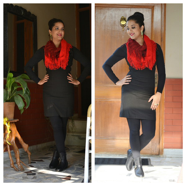 ways to style LBD in fall india
