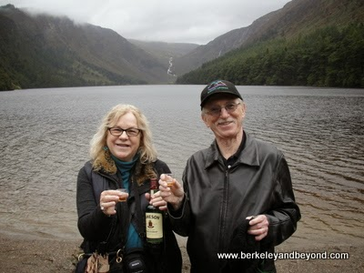 Glendalough lake with Jameson Whiskey in Wicklow area near Dublin, Ireland