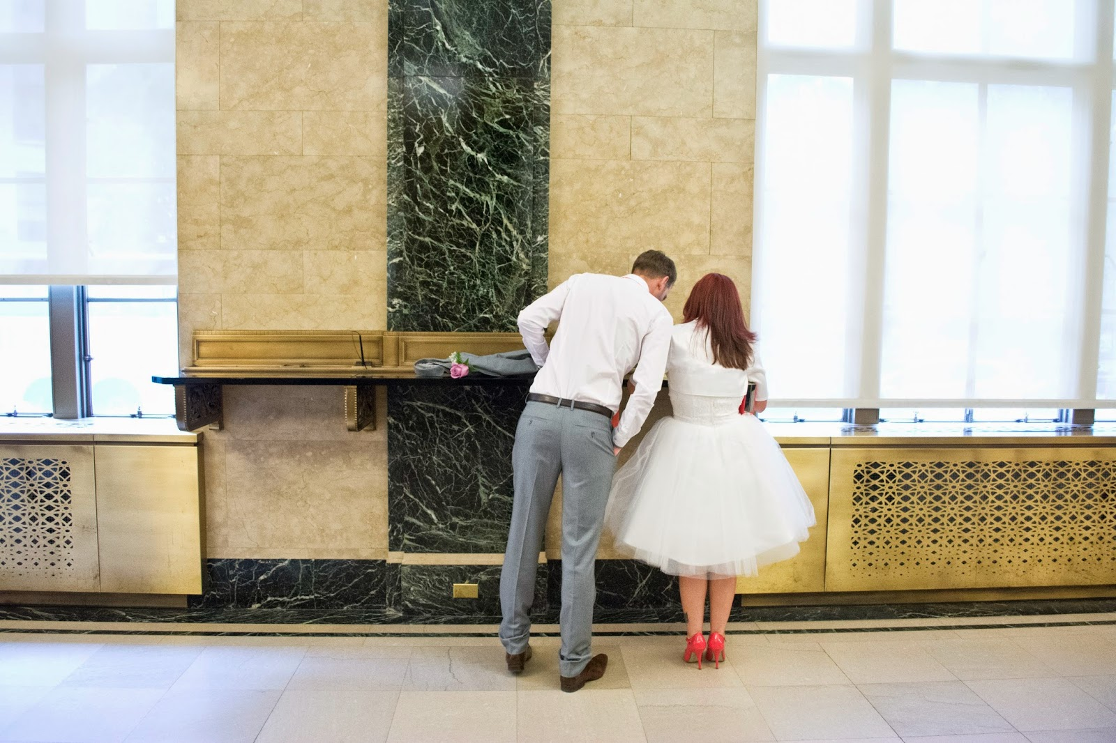 City Hall Wedding and Bouley Wedding Reception shot in NYC with two Israeli grooms visiting NYC to elope shot by Angela Cappetta.