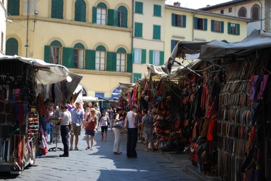 Marktstände in Florenz