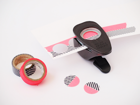 DIY: dot notebook with washi tape - hole puncher closeup by momentstolivefor