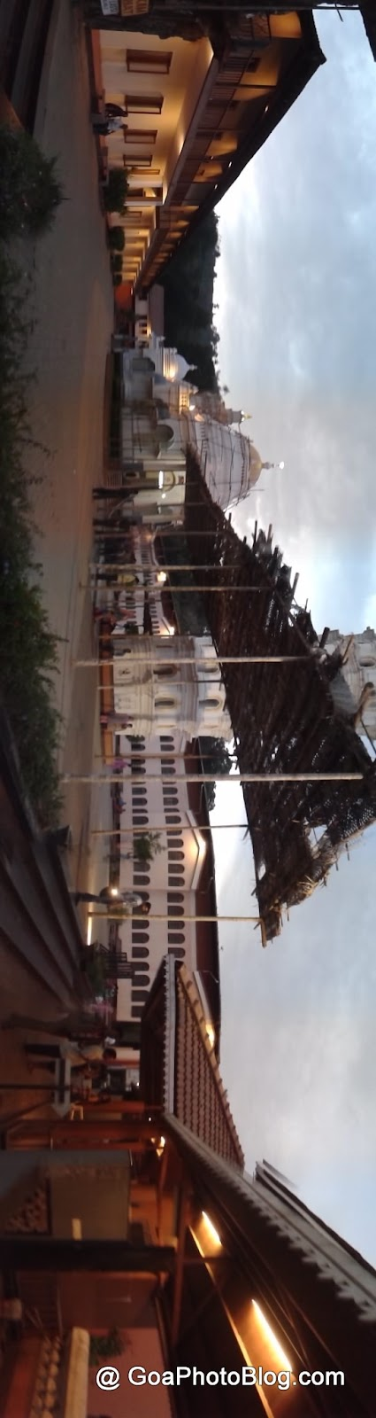 panoramic view of Mangeshi temple