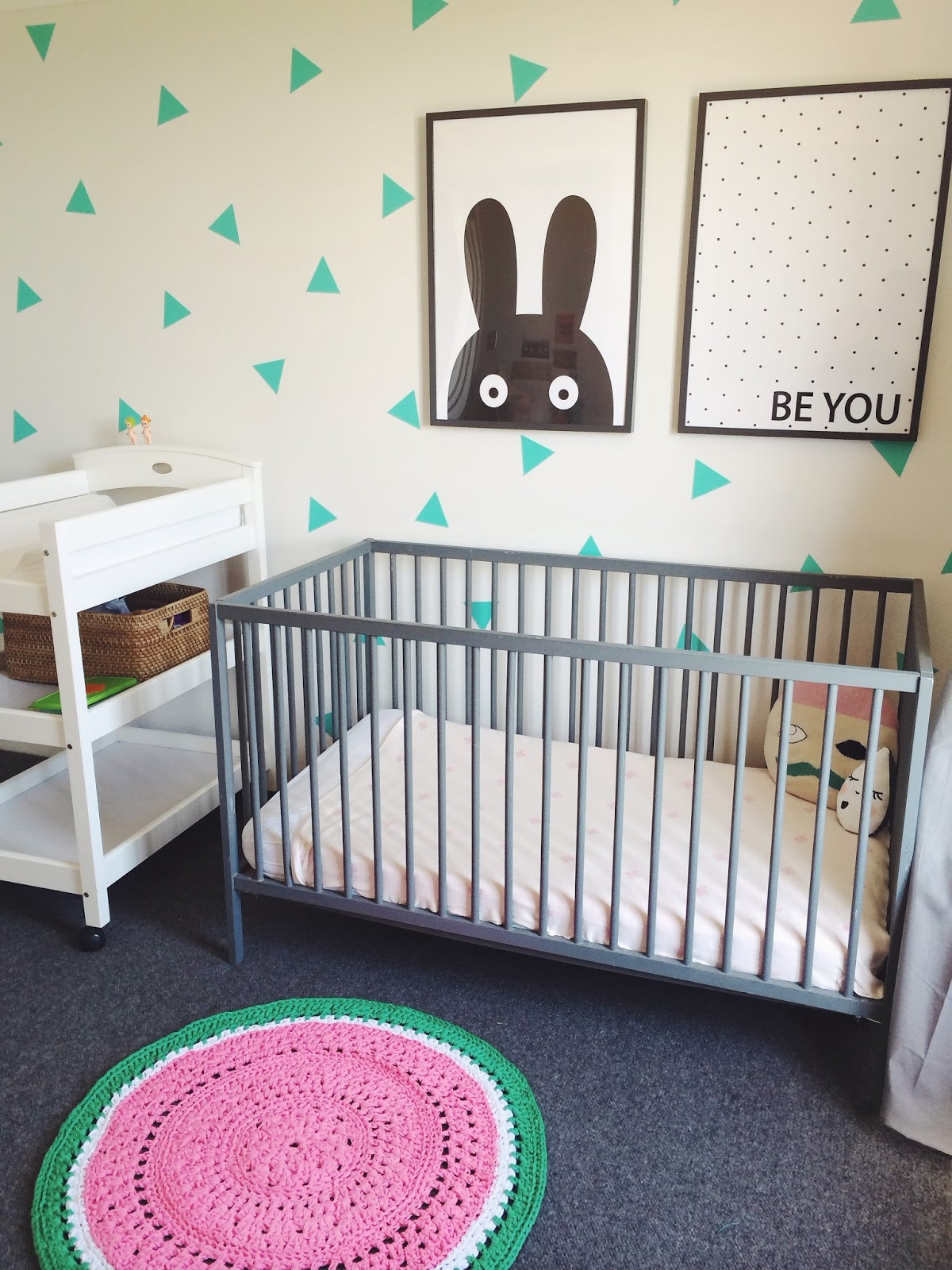Kids room decor, girls nursery