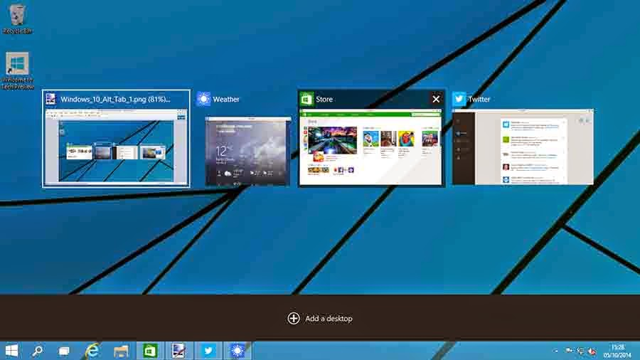 Windows 10 New Multiple Virtual Desktop