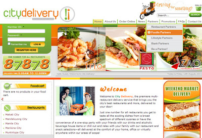 City Delivery website