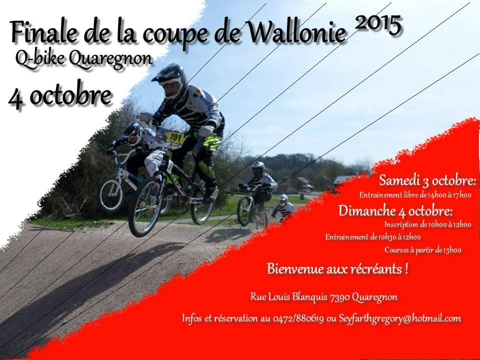 Finale de la Coupe de Wallonie ce 4 octobre 2015