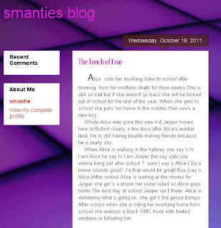 A screen image of Smantie's blog post