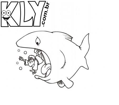 desenho de jonas sendo engolido pelo peixe para colorir desenhos