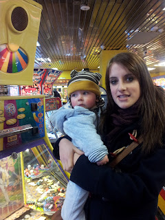 baby and aunty, arcade