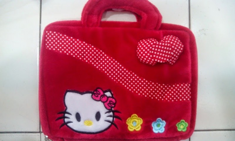 Tas laptop hello kitty murah lucu warna merah