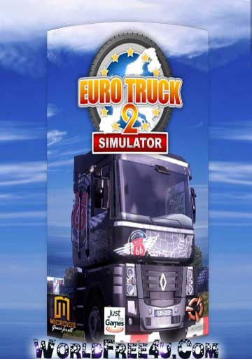 Cover Of Euro Truck Simulator 2 Full Latest Version PC Game Free Download Mediafire Links At worldfree4u.com