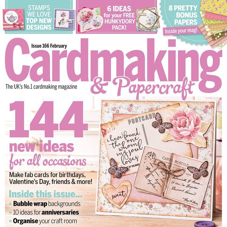 My card on Front Cover of one of my Favorite Craft magazines